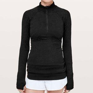 Lululemon Rest Less 1/2 Zip Pullover Black Sz 2